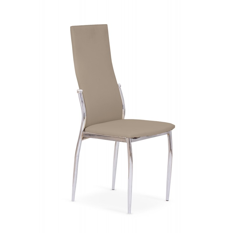 K3 krzesło chrom/cappuccino