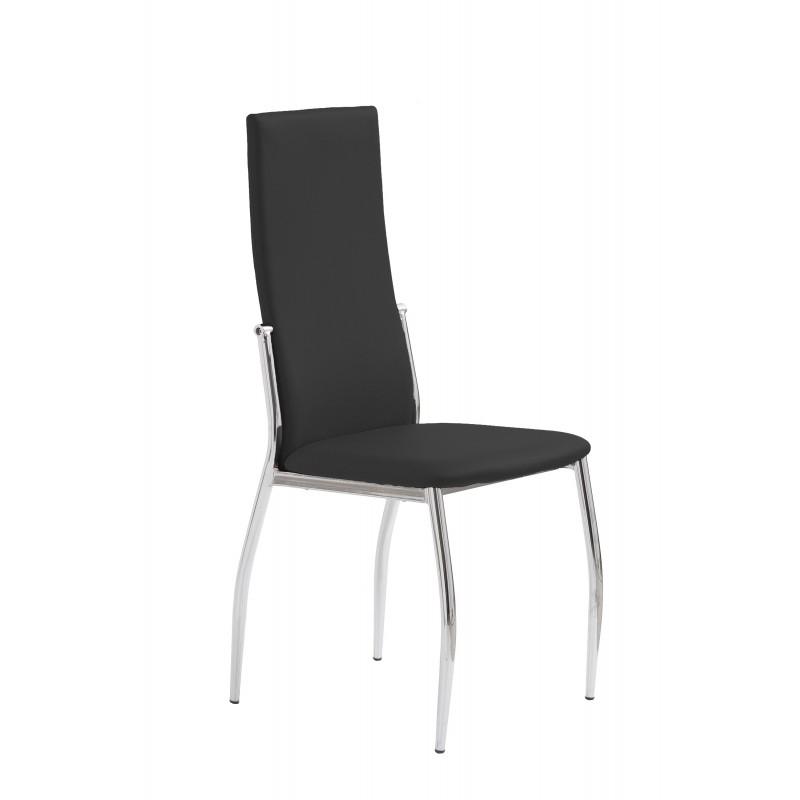 K3 krzesło chrom/czarny