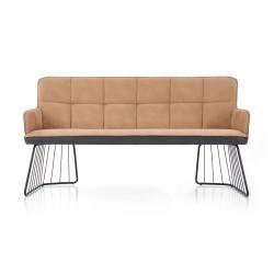 L-1 sofa jasny brąz / czarny