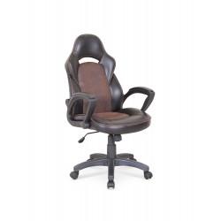 LIZARD fotel gabinetowy czarno - brązowy