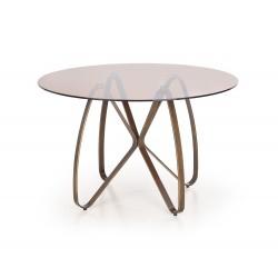 LUNGO stół złoty antyczny / brązowy