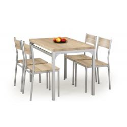 MALCOLM zestaw stół + 4 krzesła dąb sonoma