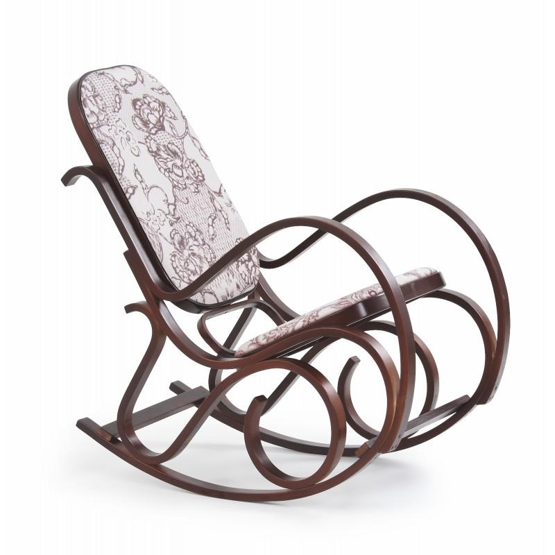 Fotel bujany MAX 2 orzech Halmar