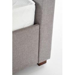 MODENA 160 cm łóżko tapicerowane z szufladami popiel