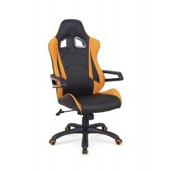 MUSTANG fotel gabinetowy czarno-pomarańczowy