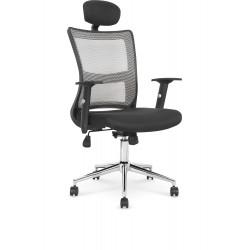 NEON fotel pracowniczy czarno-jasny szary