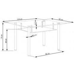 OLIVIER stół bezbarwny