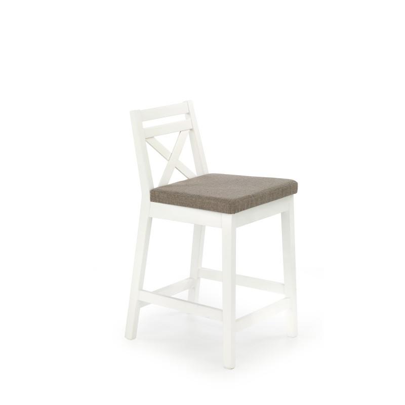 BORYS LOW krzesło barowe niskie biały / tap. Inari 23