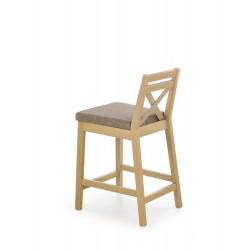 BORYS LOW krzesło barowe niskie dąb sonoma / tap. Inari 23