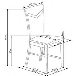 CITRONE krzesło olcha / tap: MESH 6
