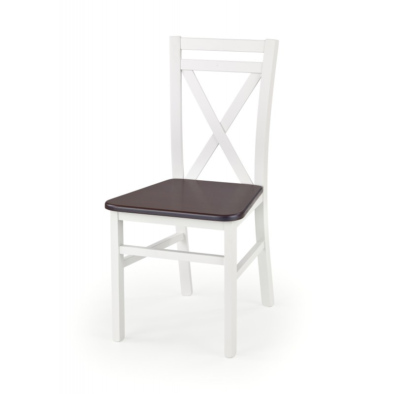 DARIUSZ 2 krzesło biały / ciemny orzech