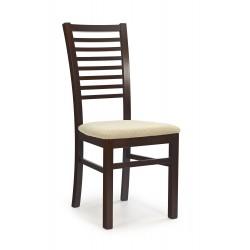 GERARD6 krzesło ciemny orzech / tap: Torent Beige
