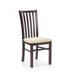 GERARD7 krzesło ciemny orzech / tap: Torent Beige