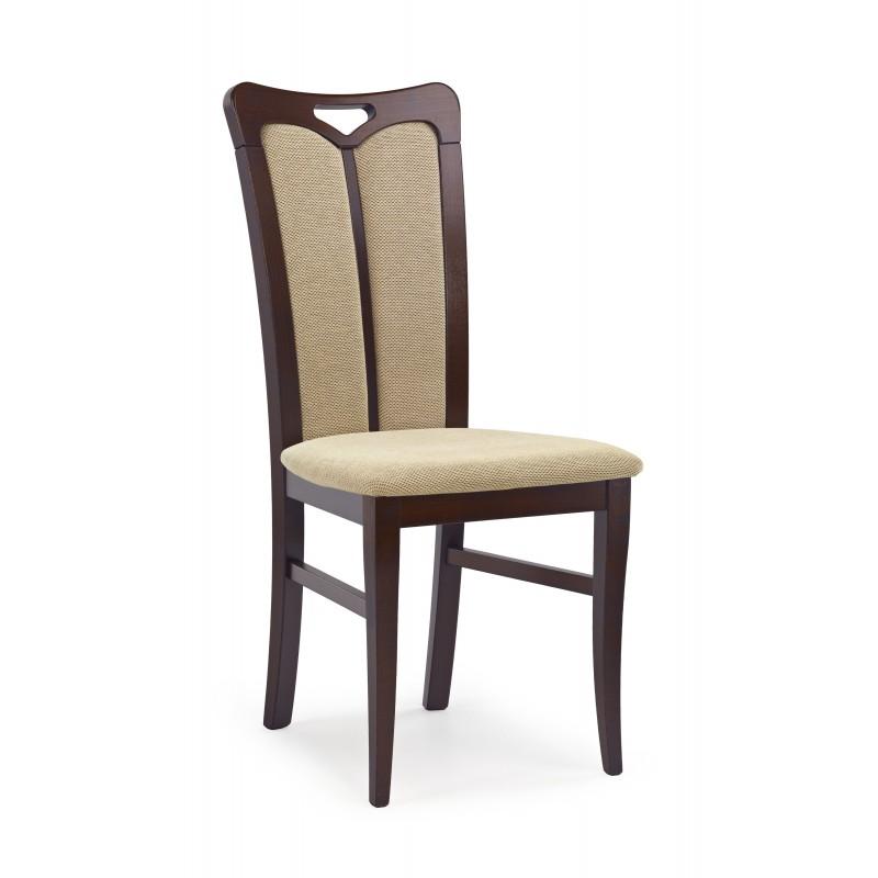 HUBERT2 krzesło ciemny orzech / tap: Torent Beige
