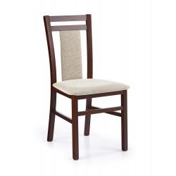 HUBERT8 krzesło ciemny orzech / tap: Vila 2