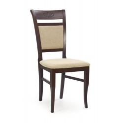 JAKUB krzesło ciemny orzech / tap: Torent Beige