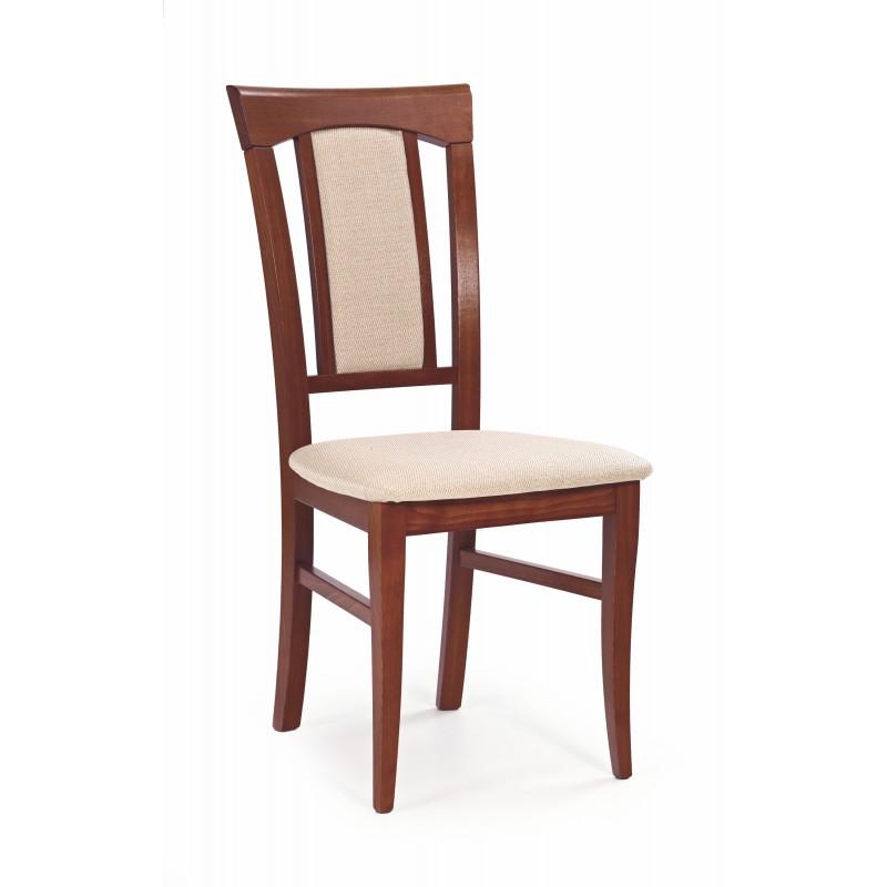 KONRAD krzesło czereśnia ant. II / tap: MESH 1