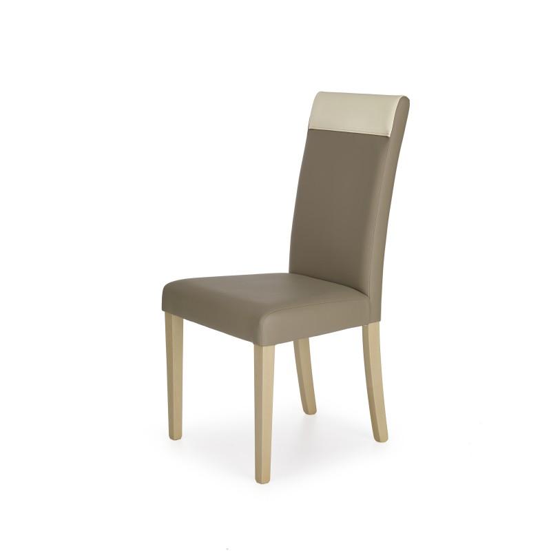 NORBERT krzesło dąb sonoma / tap. beżowy