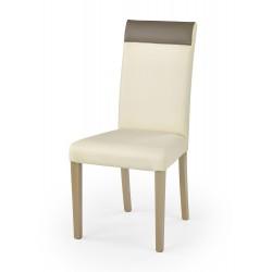 NORBERT krzesło dąb sonoma / tap: kremowy