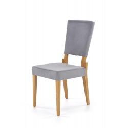 SORBUS krzesło, tapicerka - popielaty, nogi - dąb miodowy
