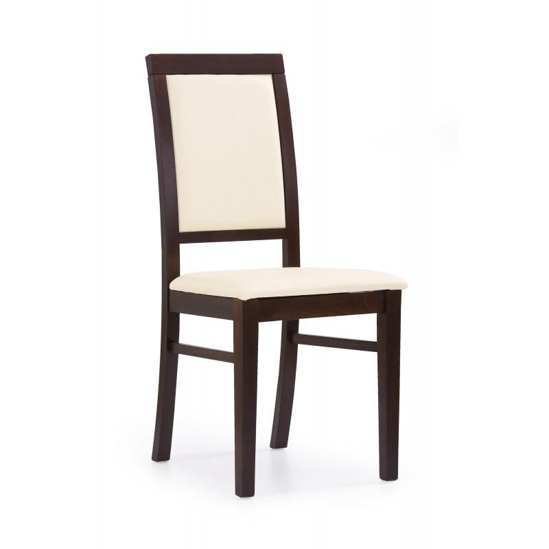 SYLWEK1 krzesło ciemny orzech, ecoskóra /CAYENNE1112