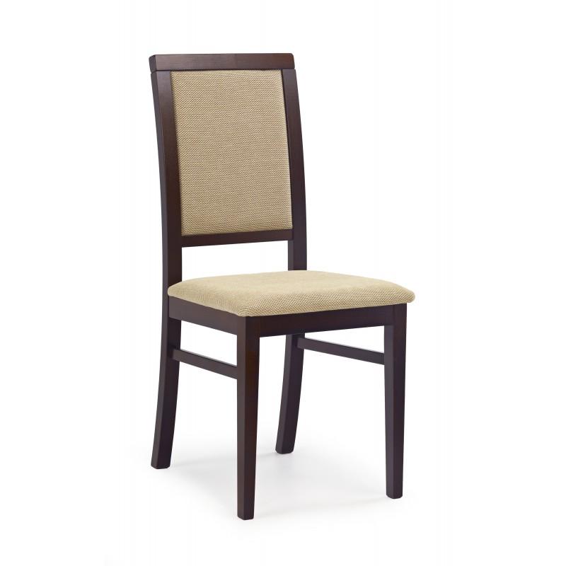SYLWEK1 krzesło ciemny orzech, tkanina / tap: Torent Beige