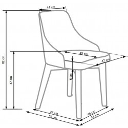 TOLEDO krzesło biały / tap. Inari 91