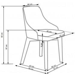 TOLEDO krzesło dąb miodowy / tap. Inari 95 (ciemny grafit)