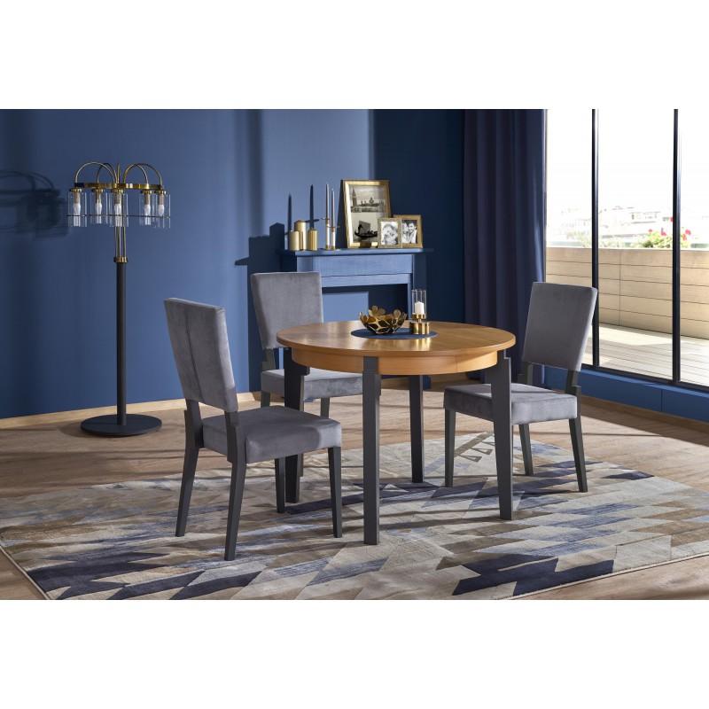 SORBUS stół rozkładany, blat - dąb miodowy, nogi - grafitowe