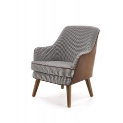 TELAVIV fotel wypoczynkowy czarny / brązowy