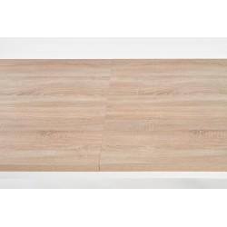 TIAGO stół rozkładany 140-220/80 blat: dąb sonoma, nogi: biały