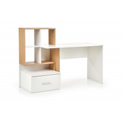 GROSSO biurko dąb złoty / biały
